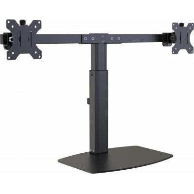 Vision multimedia kar & stand: Monitor Desk Stand 100×100 Dual - Zwart