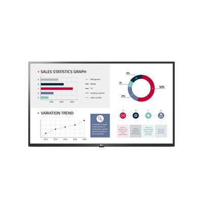 "LG 50"", IPS, 3840 × 2160, 400 nit, 5000:1, 9.5 ms, 3x HDMI, 2x USB, Ceramic Black Public display - Zwart"