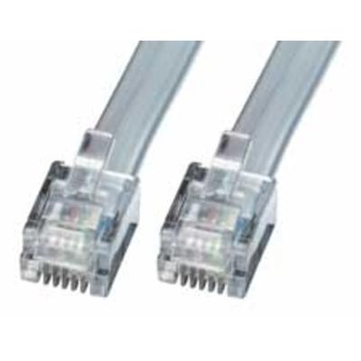 Lindy RJ-12 M/M 50.0m Telefoon kabel - Grijs