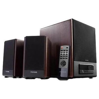Microlab luidspreker set: FC530U, 64W RMS (18Wx 2 + 28W), 35Hz-20kHz, RCA, USB, SD - Zwart, Hout