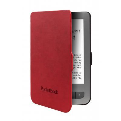 Pocketbook e-book reader case: JPB626(2)-RB-P - Zwart, Rood