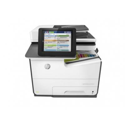 HP multifunctional: PageWide Enterprise Color MFP 586dn - Zwart, Cyaan, Magenta, Geel (Demo model)