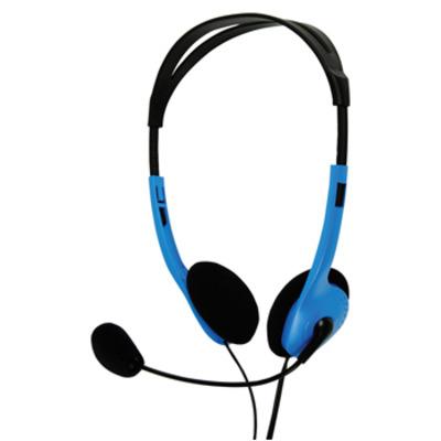 BasicXL headset: Draagbare stereo headset blauw