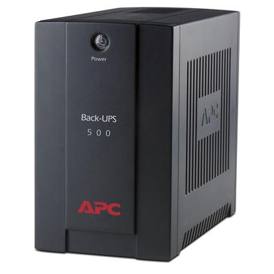 APC Back-500VA noodstroomvoeding 3x C13 UPS - Zwart