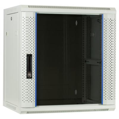 DS-IT 12U witte wandkast met glazen deur 600x450x635mm Stellingen/racks
