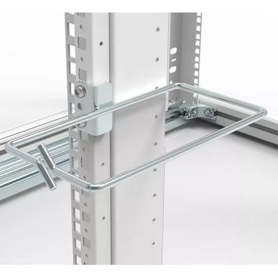 """Minkels Set van 10 stuks stalen kabelring t.b.v. 19"""" montage 85mm b 165mm d Rack toebehoren - Metallic"""