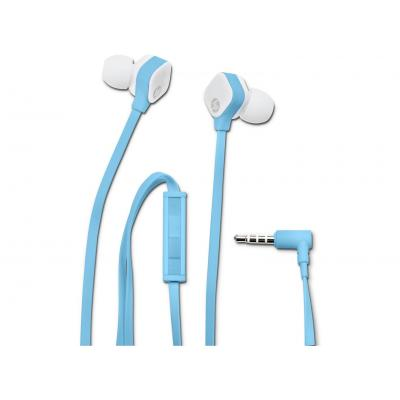 Hp headset: H2310 Blue In-ear Headset - Blauw