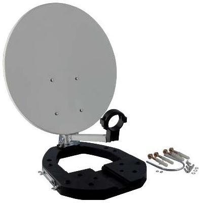 Schwaiger antenne: 35 cm, 10.7 - 12.75 GHz - Grijs