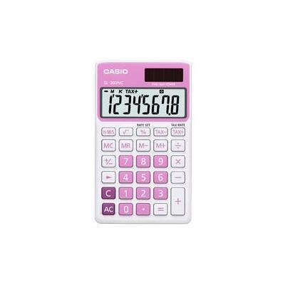 Casio calculator: SL-300NC - Roze, Wit