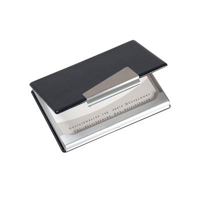 Sigel visitekaarthouder: Etui voor visitekaartjes - Zwart, Zilver