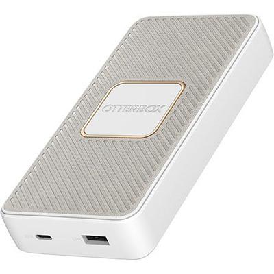 OtterBox Fast Charge Qi Wireless Power Bank – Standard, white Powerbank - Wit