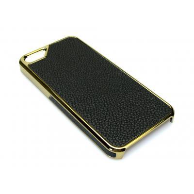 Sandberg mobile phone case: Cover iPh5 Black skin + Gold - Zwart, Goud