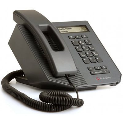 Polycom SoundPoint CX300 R2 USB Deskphone For MS Lync IP telefoon - Zwart