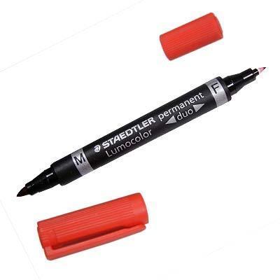 Staedtler Lumocolor Duo Marker - Zwart, Rood