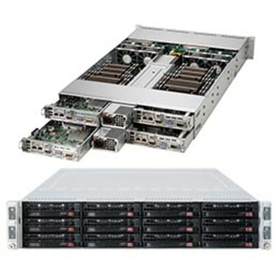 Supermicro 6028TR-HTFR Server barebone - Zwart, Grijs