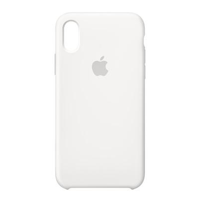Apple mobile phone case: Siliconenhoesje voor iPhone X - Wit