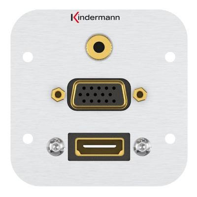 Kindermann 7441000586 Wandcontactdoos - Aluminium