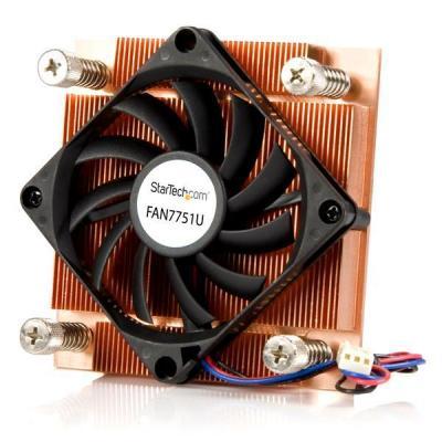 Startech.com Hardware koeling: 1U Low-Profile 70mm Socket-775 CPU-Ventilator met Koellichaam en TX3 - Zwart