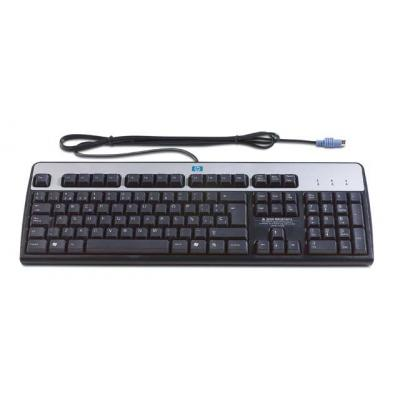 HP Standard PS/2 Windows keyboard (Jack Black color) - Has 104-key layout, attached 1.8M (6.0ft) cable with DIN .....