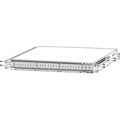Cisco montagekit: Center Mount 19 Inch Rack Kit L/R, Spare - Roestvrijstaal