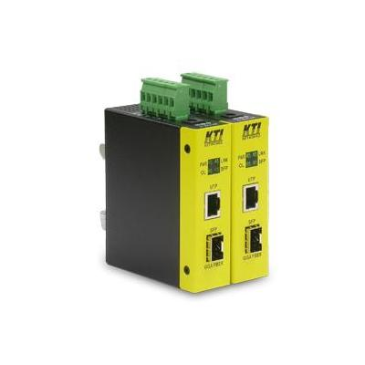 KTI Networks KCD-400 Media converter - Zwart, Geel