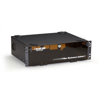Black Box Rackmount Fiber Enclosure, 3U Rack toebehoren - Zwart