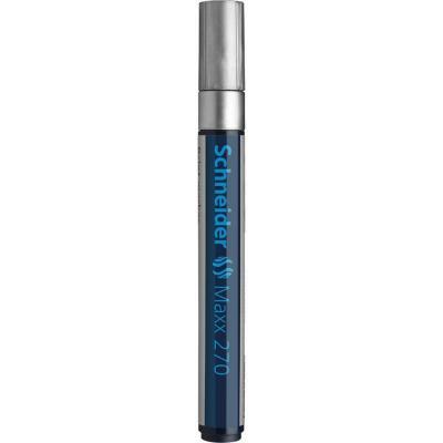 Schneider verf stift: Maxx 270 - Blauw, Zilver