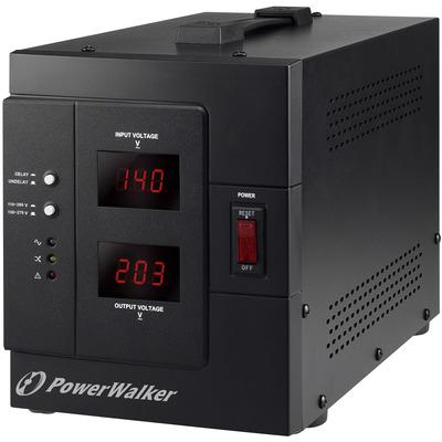 PowerWalker AVR 3000 SIV FR Voltage regulator - Zwart