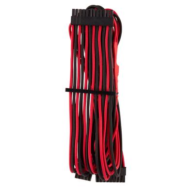 Corsair 24-pin ATX, Black/Red - Zwart,Rood