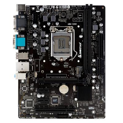Biostar Intel H410 chipset, Socket LGA 1200, 2xDDR4 DIMM slots, 7.1ch audio, Gigabit LAN Moederbord