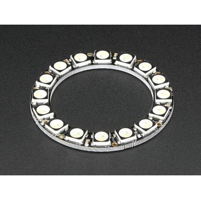Adafruit decoratieve verlichting: 16x 5050 RGBW LEDs, Cool White, 6000K - Zwart