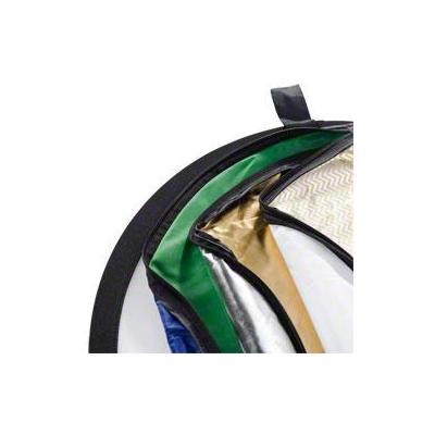 Walimex fotostudioreflector: 7in1 Foldable Reflector Set, Ø107cm - Blauw, Goud, Groen, Zilver, Transparant, Wit