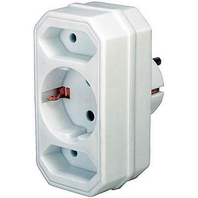 Brennenstuhl netvoeding: Adapter with 2 + 1 sockets