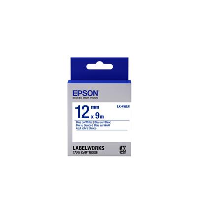 Epson Standard Tape - LK-4WLN Std Blue/Wht 12/9 Labelprinter tape