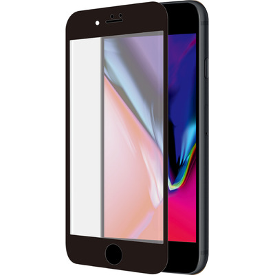 Azuri Curved Tempered Glass for iPhone 7/8, 2 pcs Screen protector - Zwart,Transparant