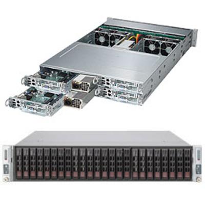 Supermicro SuperServer 2028TP-HC1TR Server barebone - Zwart