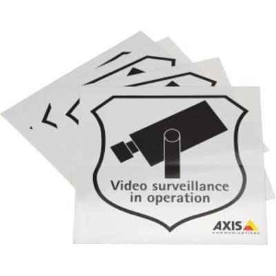 Axis Surveillance Stickers (10-Pack) Beveiligingscamera bevestiging & behuizing - Zwart, Grijs