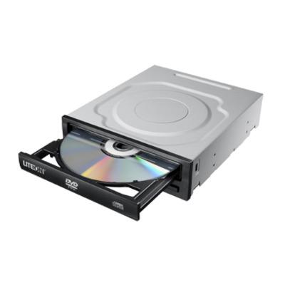 Lite-on brander: DVD, SATA, 48X Max - Zwart, Grijs