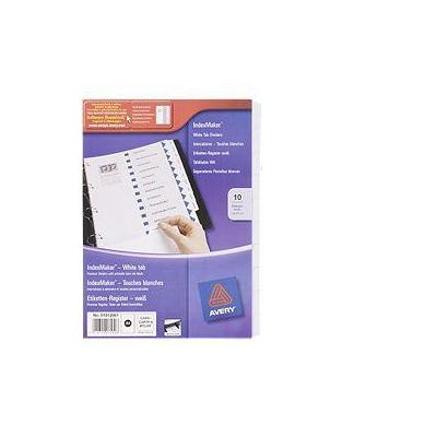 Avery schutkaart: IndexMaker Dividers - Wit