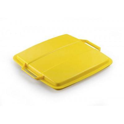 Durable trash can accessoire: DURABIN LID 90 - Geel
