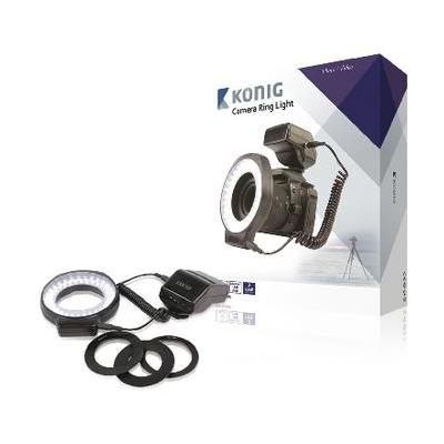 König verlichtingsring: On-Camera 60 LED Camera Ring Lamp - Zwart