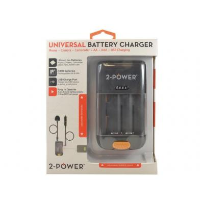 2-power oplader: Universal Camera Battery Charger-Retail