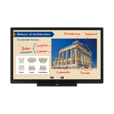 Sharp PN-80SC5 Interactive Display Touchscreen monitor - Zwart