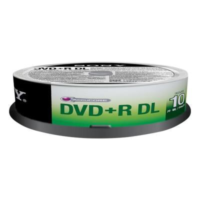 Sony DVD: Capaciteit maximaal 8,5 GB, 17 keer de capaciteit van een cd-r-schijf ter grootte van cd