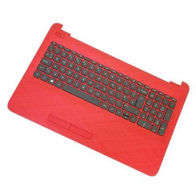 HP Top Cover & Keyboard (Greece) notebook reserve-onderdeel - Zwart, Rood