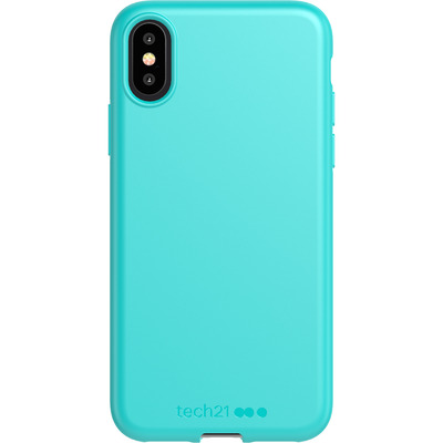 Antimicrobial Backcover iPhone Xs / X - Teal Me About It - Turquoise Mobile phone case