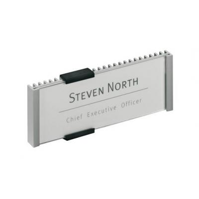 Durable naambord : INFO SIGN 149x52.5 mm - Zilver