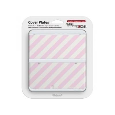 Nintendo portable game console case: New 3DS Cover Plate, Pink/White - Roze, Wit