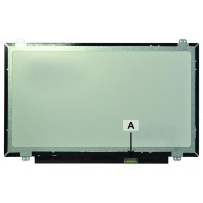 2-power notebook reserve-onderdeel: 14.0 1366x768 WXGA HD LED Matte Screen - replaces 04X5900 - Multi kleuren