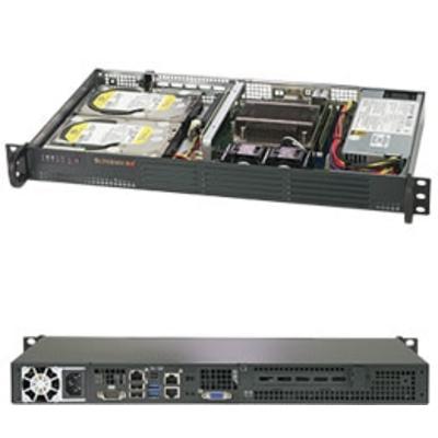 Supermicro SuperServer 5019C-L Server barebone - Zwart